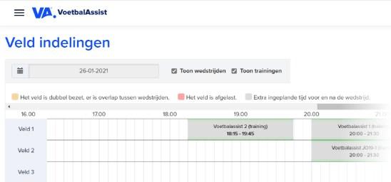 Een eenvoudige tool om je club elke week te voorzien van de juiste veldindeling. Deze wordt gepubliceerd op de website, ClubApp en ClubTV.